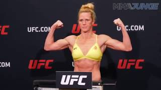 Video UFC 219: Holly Holm official weigh in download MP3, 3GP, MP4, WEBM, AVI, FLV Juli 2018