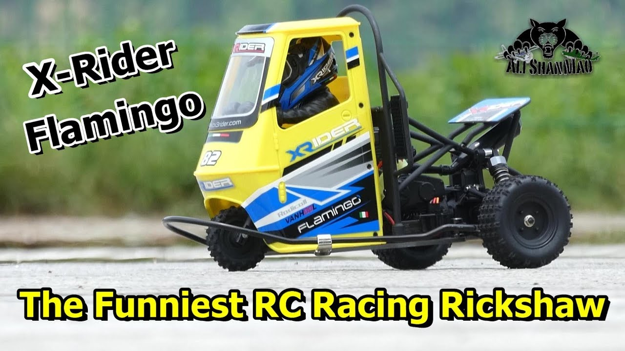 Worlds First 2WD Electric RC Racing Rickshaw X-Rider Flamingo