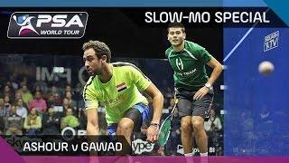Squash: ASHOUR vs GAWAD MEGARALLY-SLOW-MO-SPECIAL COMBO