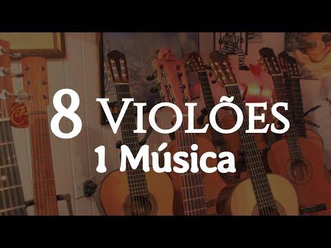 """8 Violões Diferentes e 1 Música """"Sons de Carrilhões"""" - Fabio lima"""