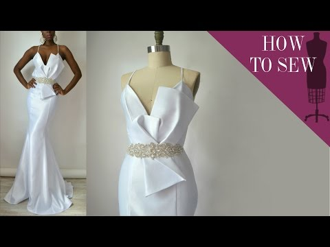 how-to-sew-a-satin-open-back-mermaid-style-wedding-gown