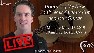Unboxing My New Faith Naked Venus Cut Acoustic Guitar!