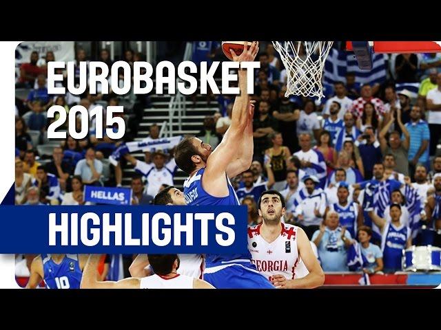 Ευρωμπάσκετ 2015 | Γεωργία-Ελλάδα 68-79 🏀 Video με στιγμιότυπα του αγώνα και οι δηλώσεις μετά τη νίκη