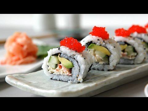 Como fazer California Roll (sushi com kani e abacate)