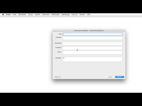 Finale 25 - Quicktipp Mac - Partitur für Orchester oder Ensemble einrichten