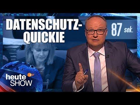 In 87 Sekunden zum Big-Brother-Gesetz: Bundestag killt den Datenschutz | heute-show vom 26.05.2017