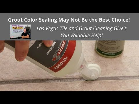 Las Vegas Tile and Grout Cleaning - Color Sealing and More