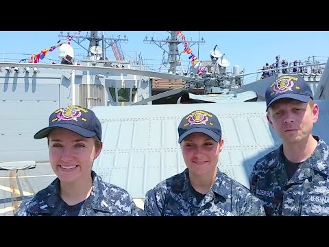 #FleetWeekNYC: USS Bainbridge DDG 99 Sailors
