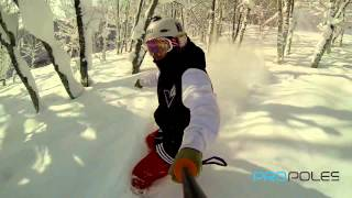UKPro POV GoPro Poles in Snowboard, Surf and Dive Action