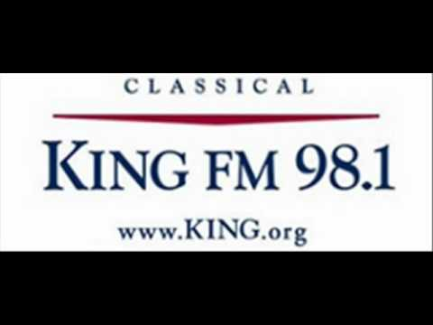 KING FM.. at 98.1 in Seattle, and online at KING.org.wmv
