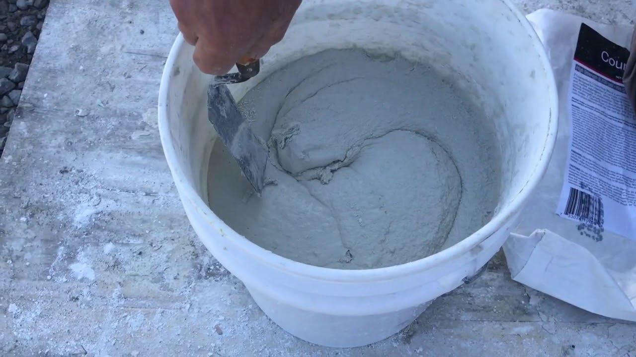 How To Mix White Countertop Concrete Youtube