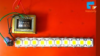 HOW TO MAKE 100W LED light USING 12 VOLT 1AMP POWER SUPPLY