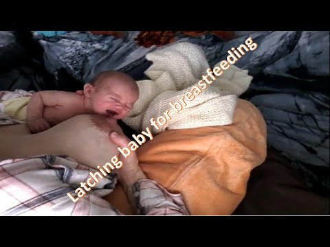 NEWBORN Baby LATCHING On