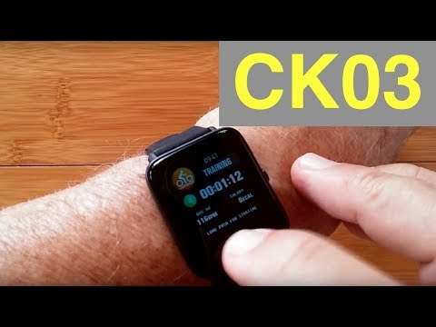 Makibes CK03 Health Fitness IP67 Waterproof Blood Pressure Smartwatch: Unboxing and 1st Look