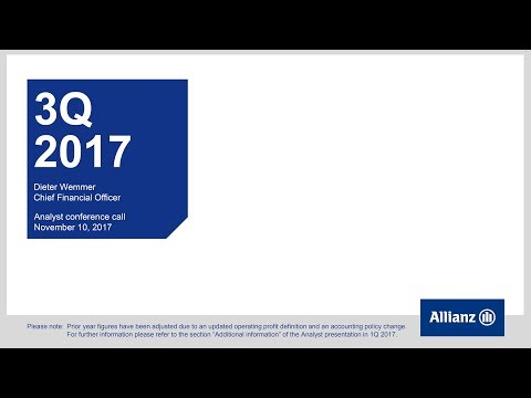 Allianz Group Analysts' conference call on 3Q 2017