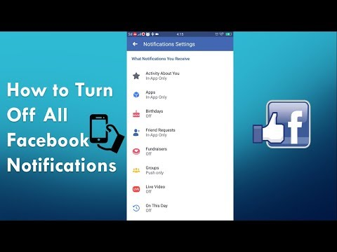 How To Stop All Facebook Notifications On Mobile 2019 | Mobile App