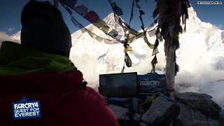 Climbing Mt. Everest to play a video game?!