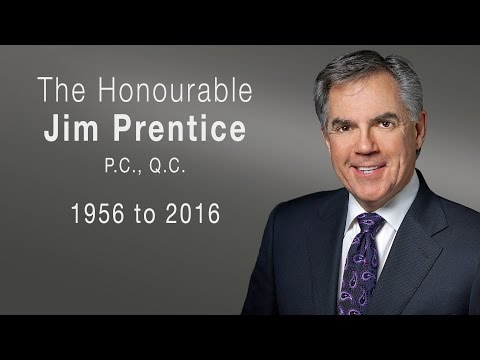 State memorial for former Alberta Premier Jim Prentice - October 28, 2016