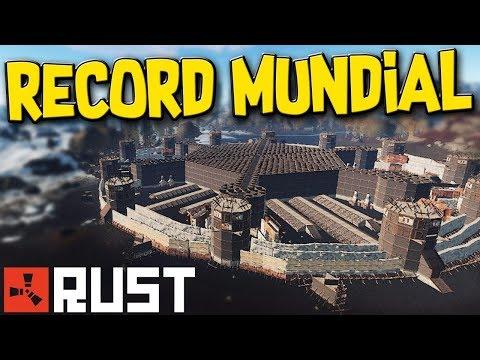 RUST 🏰 RECORDE MUNDIAL   MAIOR BASE BLINDADA JA VISTA
