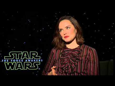 """Star Wars: The Force Awakens: Daisy Ridley """"Rey"""" Official Movie Interview"""