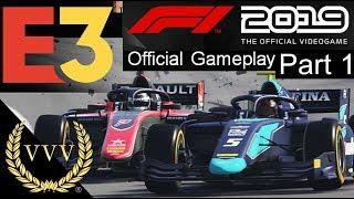 F1 2019 F2 Gameplay - E3 2019 Part 1