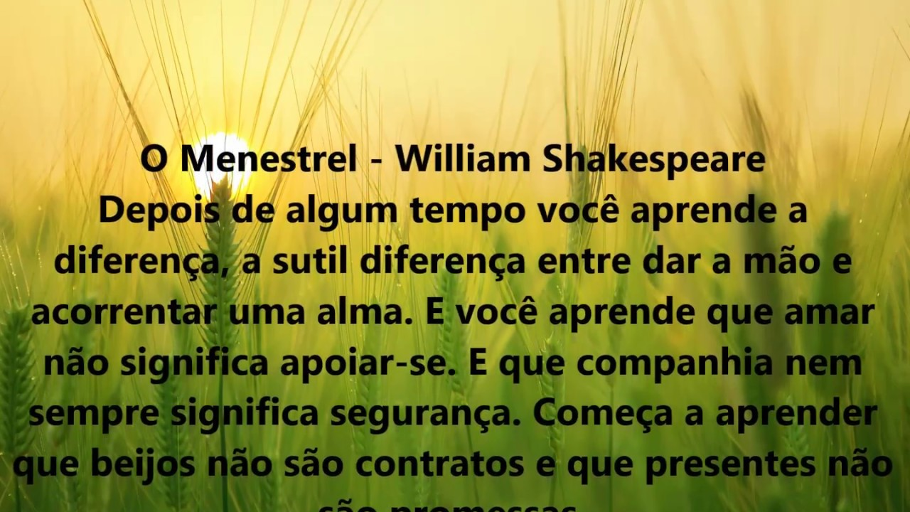 menestrel william shakespeare