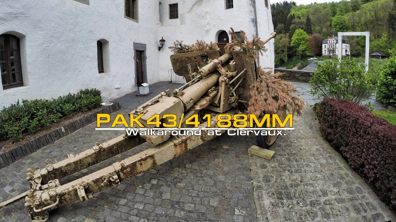 Lr 6 Pak 43/41 88mm Walkaround - Clervaux. Gopro 60fps. - Youtube