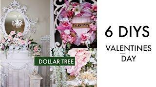 💖6 DIY DOLLAR TREE VALENTINES DAY DECOR CRAFTS 💖 DECO MESH WREATH, SPRING BRIDAL GARLAND CENTERPIECE