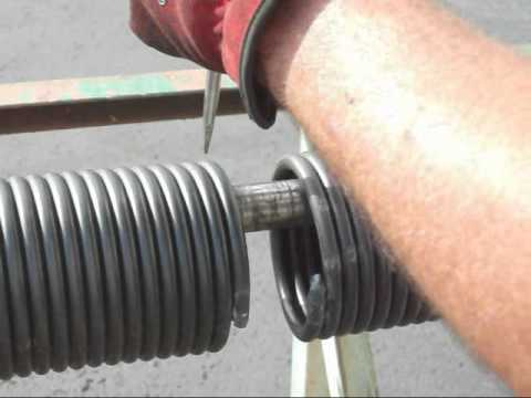 Broken Torsion Spring Caught On Video Youtube
