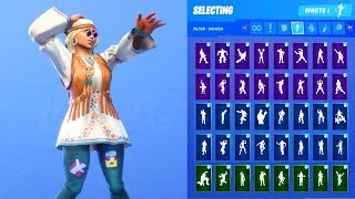 DREAMFLOWER SKIN SHOWCASE WITH ALL FORTNITE DANCES & EMOTES