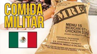 Probando comida MILITAR MEXICANA