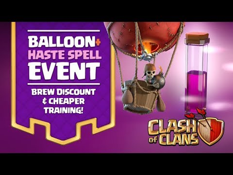 Balloons + Haste Spell Event | EASY 3 STARS |  STRONGEST TH9 ATTACK | Clash Of Clans