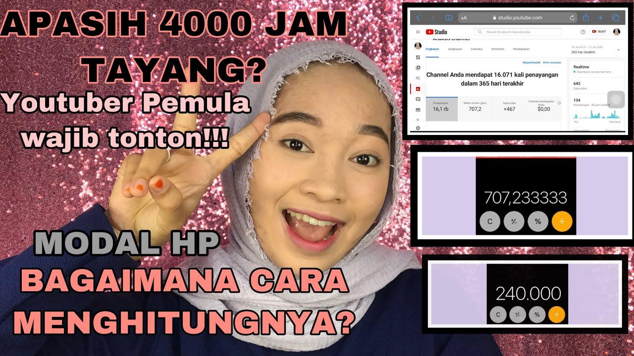 APA ITU 4000 JAM TAYANG DAN CARA MENGHITUNGNYA!!! - YouTube