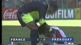 Francia 1 Paraguay 0 (Relato Victor Hugo) Mundial 1998
