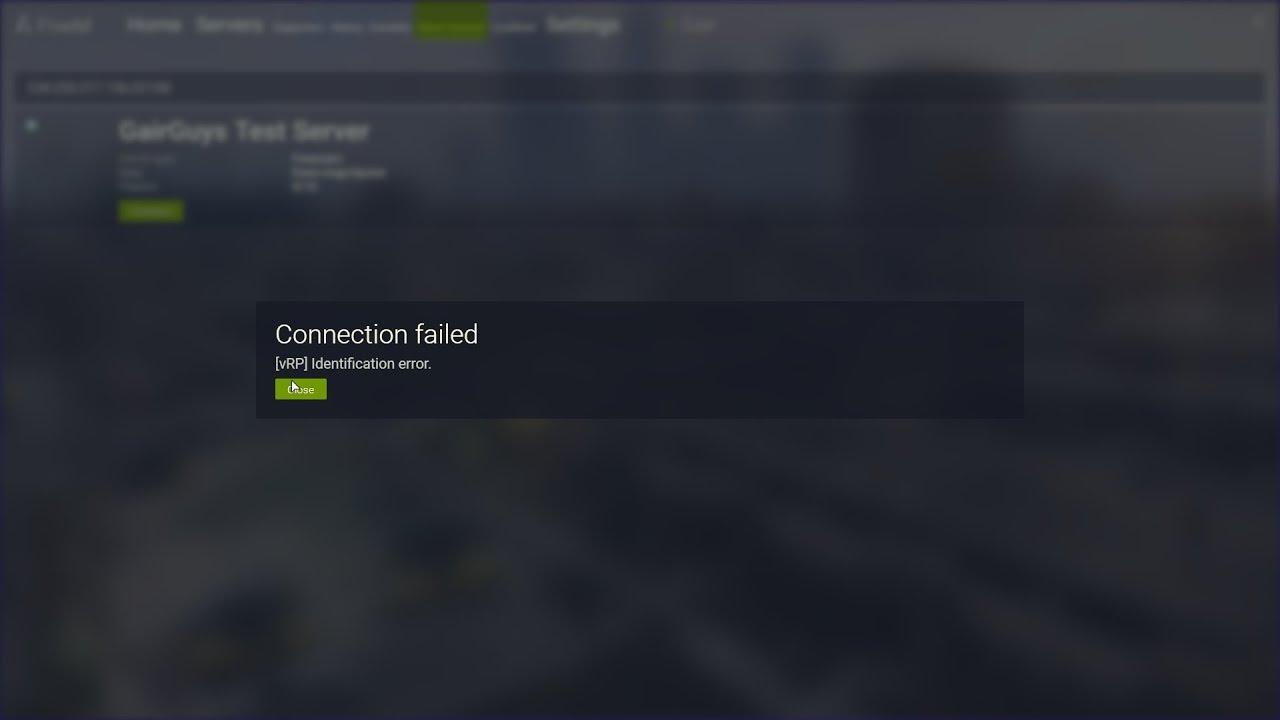 Fivem Connection Failed