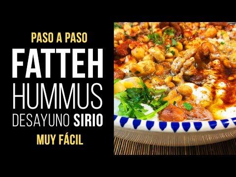 Fatteh Hummus el desayuno sirio