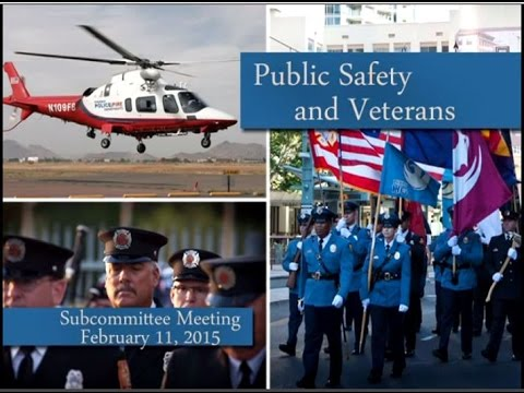 Phoenix City Council Public Safety and Veterans Subcommittee meeting, Feb. 11, 2015