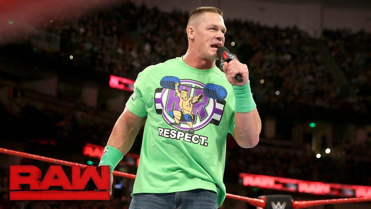 Download John Cena addresses dream match against The Undertaker at WrestleMania: Raw, Feb. 26, 2018