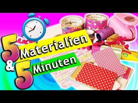 DIY CHALLENGE 5 Minuten 5 Materialen BACK TO SCHOOL Schreibt