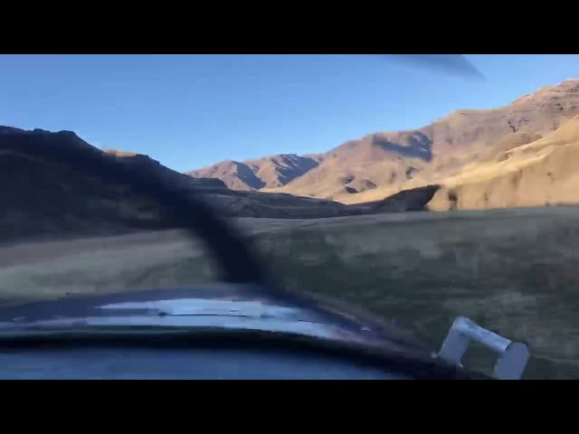 Cessna 180 take off from Dug Bar Airstrip (OR8)
