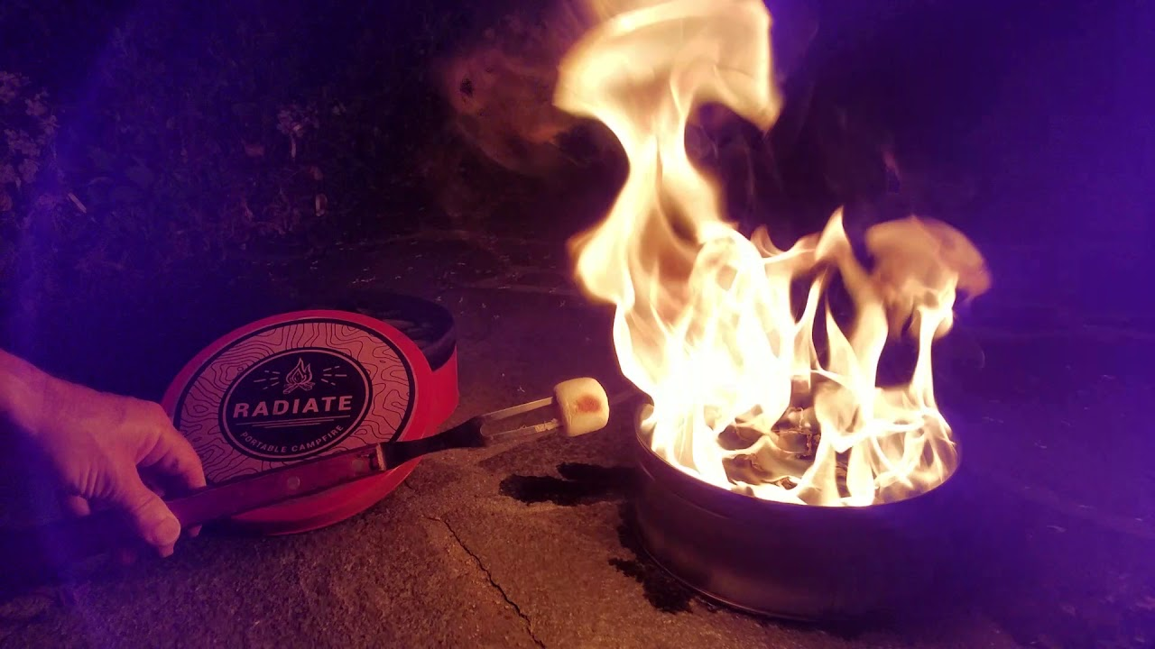 Roasting Marshmallows On The Radiate Portable Campfire