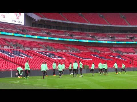 Portugal Prepare To Take On England At Wembley