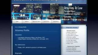 www.miamifloridapersonalinjurylawyer.com Florida Law Attorney By www.cpccci.com - web design hosting