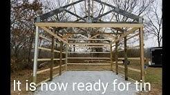 DIY 16' x 24' Pole Barn