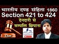 421 to 424 IPC | धारा 421 से 424 आईपीसी | देनदारी से सम्पत्ति को छिपाना | fraudulent Deeds