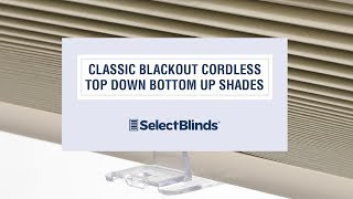 Classic Blackout Cordless Top Down Bottom Up Shades from SelectBlinds.com