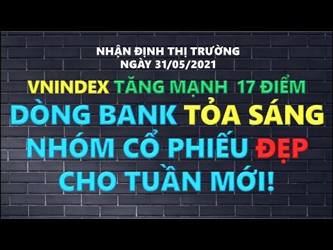 Chứng khoán hôm nay   Thị trường ngày 31/5: Vnindex tăng mạnh 17 điểm, Dòng bank vẫn tỏa sáng!