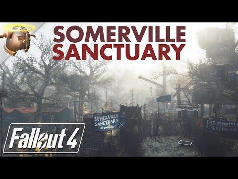 SANCTUARY AT SOMERVILLE PLACE: Huge, realistic #Fallout 4 custom #settlement!