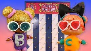 LOL Surprise Dolls Incredibles 2 Super Suits Disk Drop Game! With Edna, Queen Bee, & Sugar Queen!
