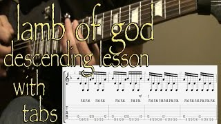 Lamb of God - Descending Lesson with Tabs